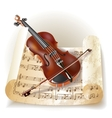 Classical violin vector image