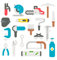 Flat design labor tools set vector image