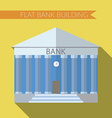 Flat design modern of bank building icon with long vector image