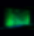 glowing neon green abstract rounded mosaic vector image