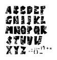 grunge full alphabet modern vector image