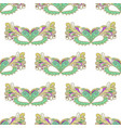 mardi gras carnival mask pattern vector image