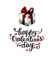 Valentines Day card on white background vector image vector image