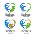 care and charity logo vector image