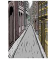 City Street Alley Scene vector image