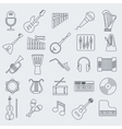 Musical instrument line icon vector image vector image