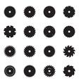 Circular saw blade icons vector image