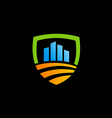 shield save business finance investment logo vector image