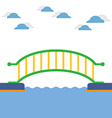 Colorful Bridge Over The River vector image