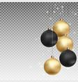 gold and black christmas ball with ball on vector image