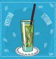homemade lime lemonade in handmade cartoon style vector image
