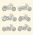 Motorcycle Icons set vector image