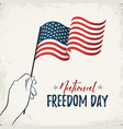 natioanl freedom day vector image