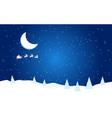 new year flat with moon santa vector image