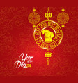 oriental chinese new year pattern background year vector image