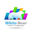 White Bear polar logo design Template for your vector image