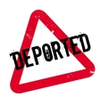 Deported rubber stamp vector image