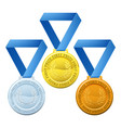 prize medals vector image