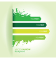 green strip background vector image vector image