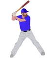 baseball player detailed 6 vector image