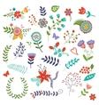 Amazing floral set vector image
