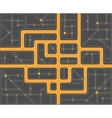 Plan streets vector image