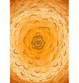 Abstract drawn yellow concentric blots vector image