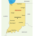Indiana - map vector image