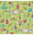 seafood wallpaper vector image vector image