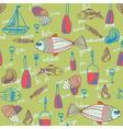 seafood wallpaper vector image