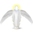 White angel vector image vector image