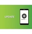 update apps smartphone in progress concept vector image