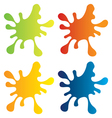 colour splashes vector image vector image