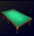 billiard game balls position on a realistic pool vector image