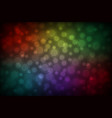 colorful abstract bokeh background vector image