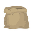 Empty burlap sack Empty bag Bag made of cloth vector image