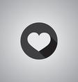 Heart symbol flat vector image