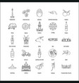 indonesia icons set vector image
