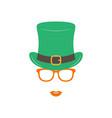 irish girl in green hat and orange glasses st vector image