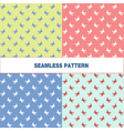 seamless pattern with swallow vector image