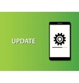 update apps smartphone in progress concept vector image