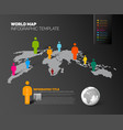 world map infographic template with figures vector image