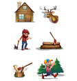A life of a lumberjack vector image vector image