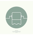 Roll of toilet paper vector image