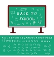 Back to School Alphabet vector image vector image