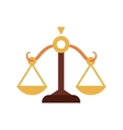 Balance icon Law and justice design vector image