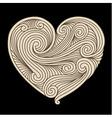 Decorative retro heart vector image