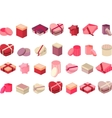 Different gift boxes isolated on white vector image
