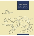 Fair wind background vector image