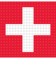 First Aid Symbol created from building toy bricks vector image